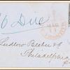 10c black Washington single on express mail cover