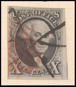 10c black Washington single