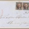 10c black Washington strip of three on cover