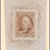 5c red brown Franklin die proof