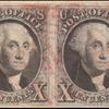 10c black Washington pair
