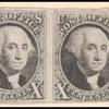 10c black Washington strip of four