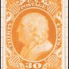 30c orange Franklin plate proof