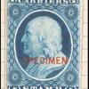 1c) blue Franklin plate proof