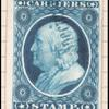 1c) blue Franklin plate proof of reprint