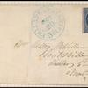 1c dull blue Franklin carrier single on cover