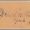 3c dull red Washington Type I single on cover