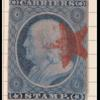 1c dull blue Franklin carrier single