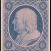 1c blue Franklin carrier reprint single