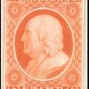 1c orange Franklin carrier trial color proof single