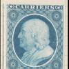 1c blue Franklin carrier plate proof single