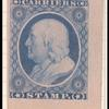 1c blue Franklin carrier stamp reprint single