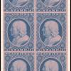1c blue Franklin carrier reprint block of six