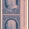 1c blue Franklin carrier stamp reprint pair