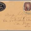 5c red brown Jefferson Type I pair on hotel cover