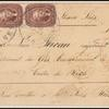 5c red brown Jefferson Type I strip of three on cover to France