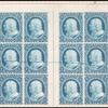 1c blue Franklin carrier plate proof block of twenty four