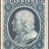 1c blue Franklin carrier reprint proof