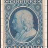 1c blue Franklin carrier reprint single