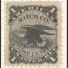 1c black American Match Company revenue stamp