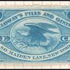 1c blue Holloway's pills and ointment revenue stamp single