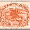 1c orange Eagle carrier trial color proof