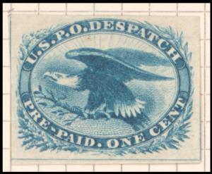 1c blue Eagle carrier single