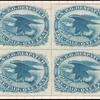 1c blue Eagle carrier block of four