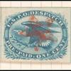 1c blue Eagle carrier stamp