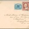 1c blue Eagle carrier & 3c red Washington on cover