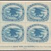 1c blue Eagle carrier reprint block of 8
