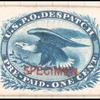1c blue Eagle carrier reprint Specimen single