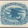 1c blue Eagle carrier reprint single