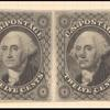 12 cent black George Washington issue pair