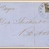 12c black Washington bisect on cover