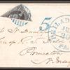 10c black Washington bisect on cover