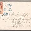 3c dull red Washington single on cover