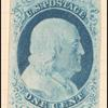 1c blue Franklin type IV single