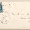 1c blue Franklin type III plate 4 single on cover