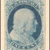 1c blue Franklin type II unused single