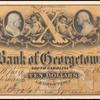 $10 Bank note showing same engraving of Franklin as 1c 1851 stamp
