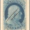 1c blue Franklin Type II single
