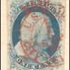 1c blue Franklin type II used single