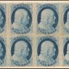 1c blue Franklin Type V block of eight