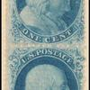 1c blue Franklin vertical pair