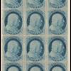 1c blue Franklin block of twelve
