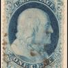 1c blue Franklin single