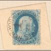 1c blue Franklin single on piece