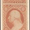 3c dull red Washington vertical strip of three