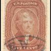 5c brick red Jefferson Type I single